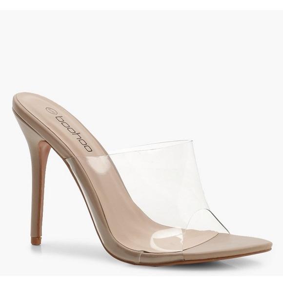 6819d8f54a Boohoo Shoes | Perspex Clear Heels | Poshmark